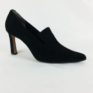 Donald J. Pliner 7.5M Black Suede Heels S21-18